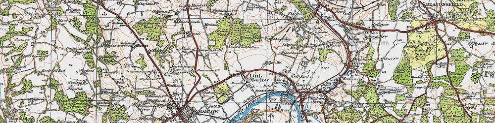 Old map of Westhorpe Ho in 1919