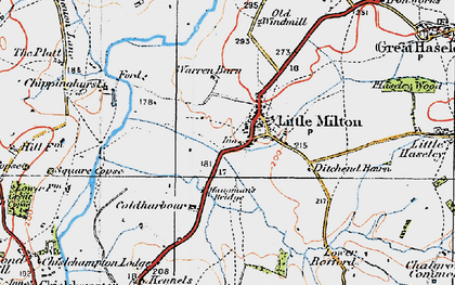 Old map of Little Milton in 1919
