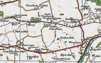 Old map of Westholme Hall in 1925