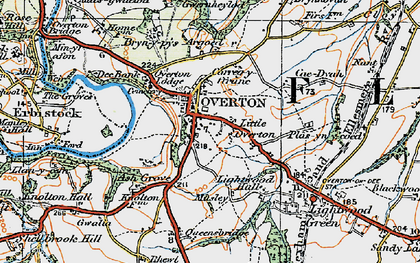 Old map of Argoed in 1921