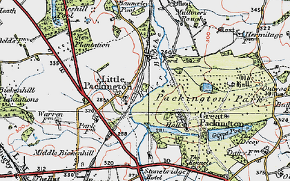 Old map of Bannerley Pool in 1921