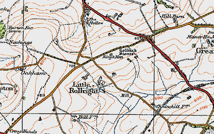 Old map of Whispering Knights in 1919