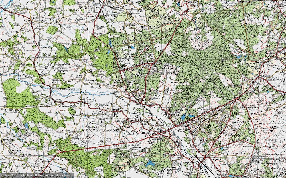 Old Map of Little Sandhurst, 1919 in 1919