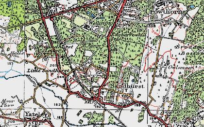 Old map of Little Sandhurst in 1919