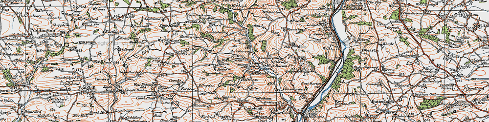 Old map of Wormsland in 1919