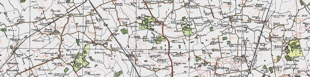 Old map of Westhorpe in 1925