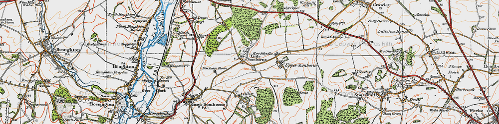 Old map of Winter Down Copse in 1919