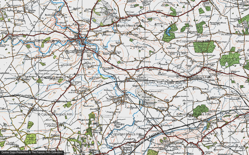 Old Map of Little Somerford, 1919 in 1919