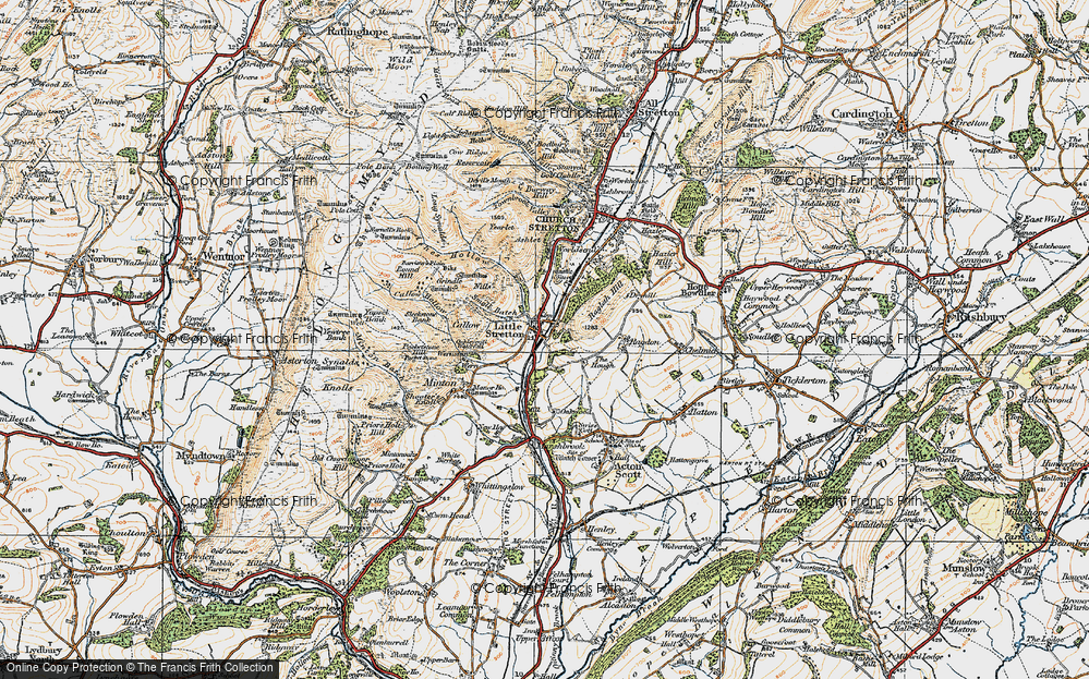 Old Map of Historic Map covering Ashes Hollow in 1920
