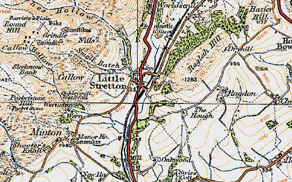 Old map of Ashes Hollow in 1920