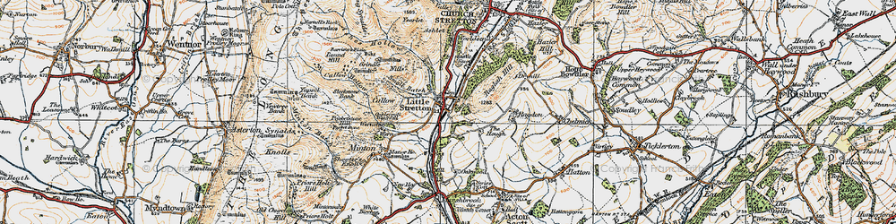 Old map of Little Stretton in 1920