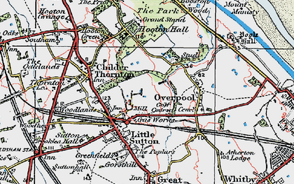 Old map of Little Sutton in 1924