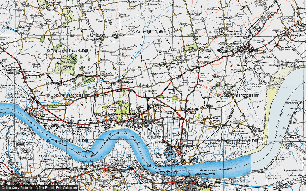 Old Map of Little Thurrock, 1920 in 1920