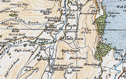 Old map of Aikin Knott in 1925