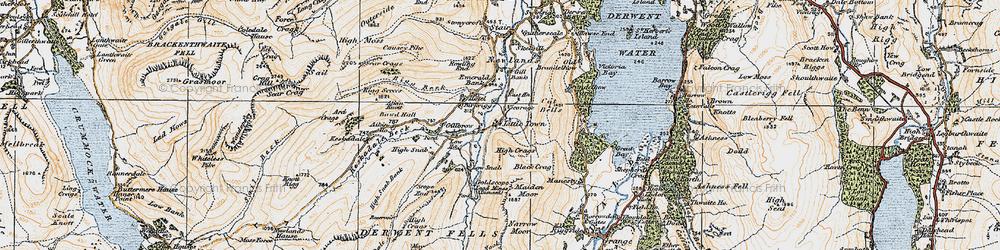 Old map of Aikin Knott in 1925