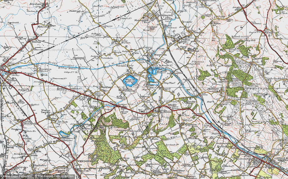Old Map of Little Tring, 1920 in 1920