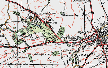 Old map of Acthorpe Top in 1923