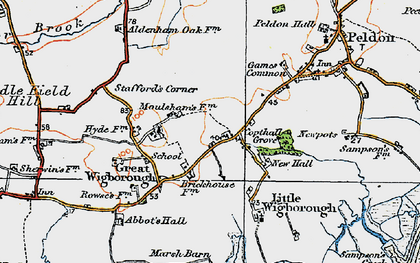 Old map of Abbot's Hall Saltings in 1921