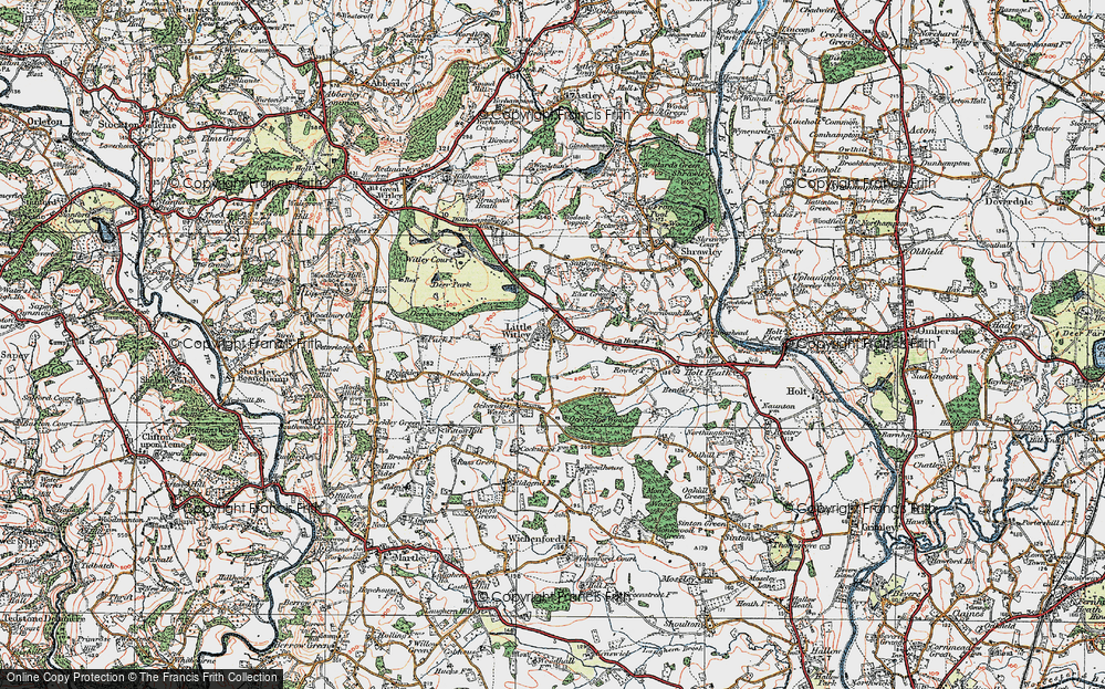Old Map of Little Witley, 1920 in 1920