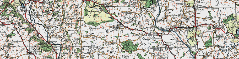 Old map of Little Witley in 1920