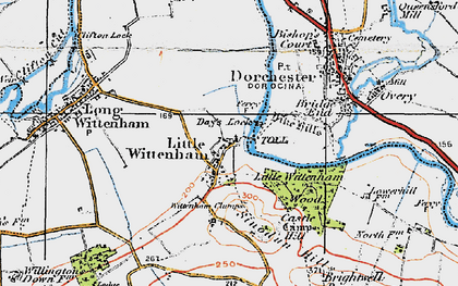 Old map of Wittenham Clumps in 1919