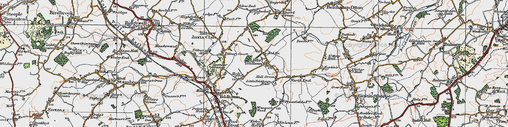 Old map of Tilbury Court in 1921