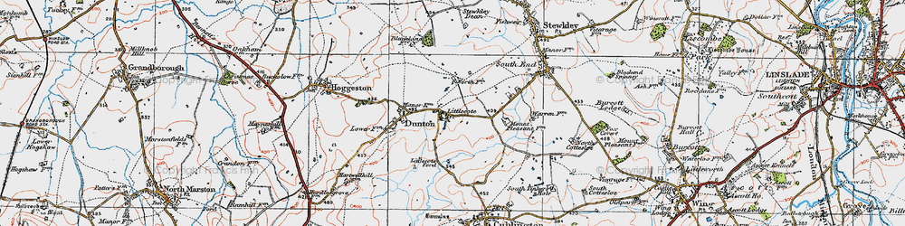 Old map of Lidcote Village in 1919