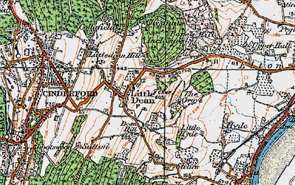 Old map of Littledean in 1919