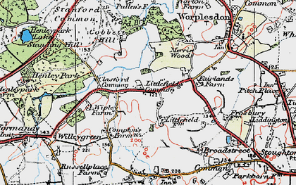 Old map of Whipley Manor in 1920