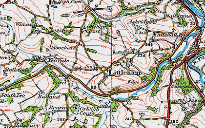 Old map of Littleham Court in 1919