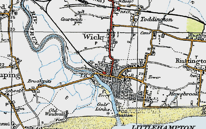 Old map of Littlehampton in 1920