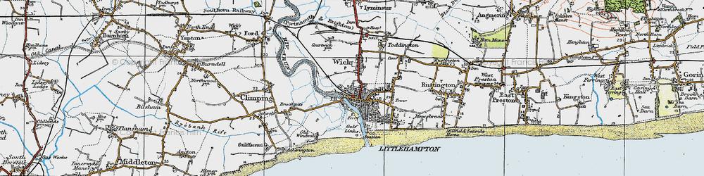 Old map of Littlehampton in 1920