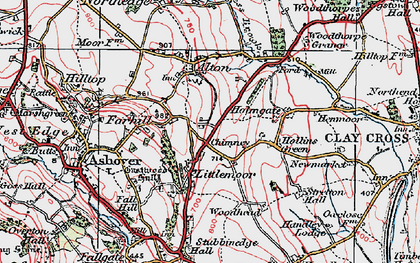 Old map of Littlemoor in 1923