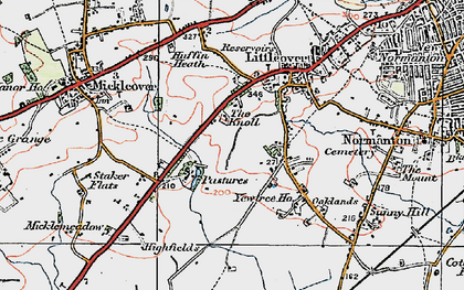 Old map of Littleover in 1921
