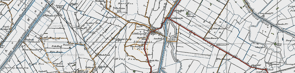 Old map of Wood Fen in 1920