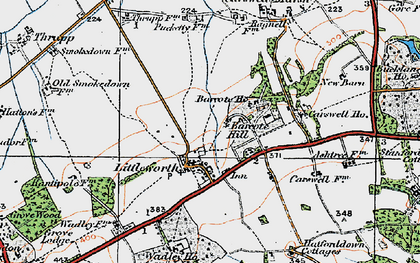 Old map of Barcote Barn in 1919