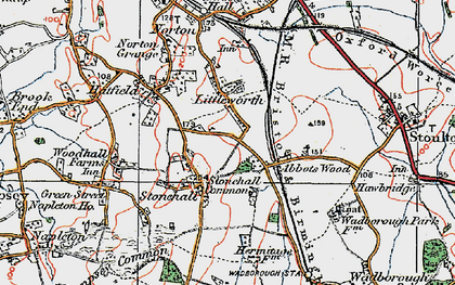 Old map of Abbotswood in 1920