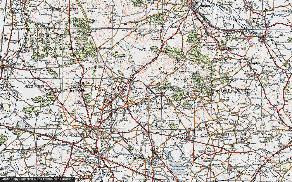 Old Map of Littleworth, 1921 in 1921