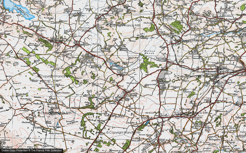 Old Map of Litton, 1919 in 1919