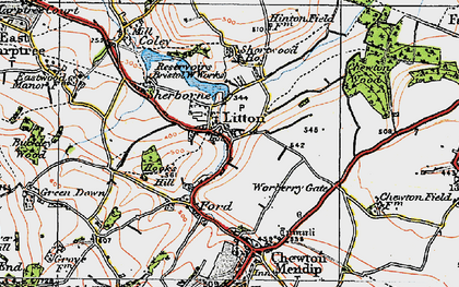Old map of Litton in 1919