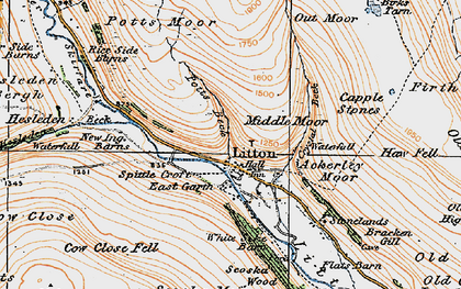 Old map of Ackerley Moor in 1925