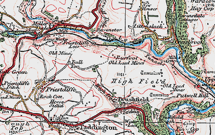 Old map of Litton Mill in 1923