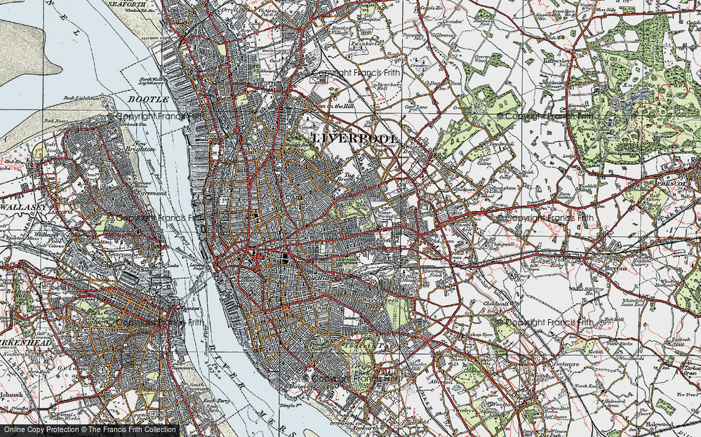 Old Map of Liverpool, 1923 in 1923
