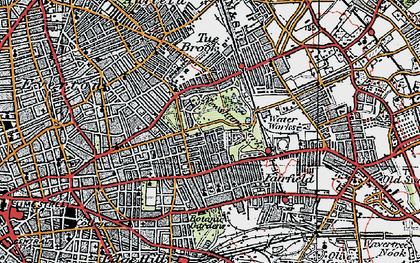 Old map of Liverpool in 1923