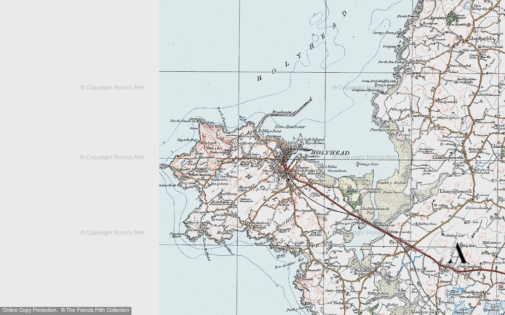 Old Map of Llaingoch, 1922 in 1922