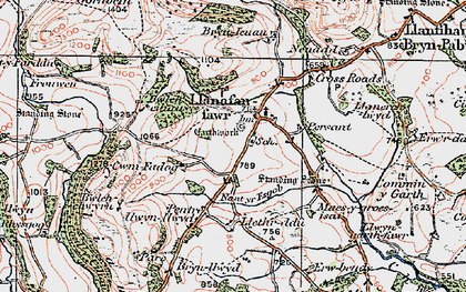 Old map of Allt y Clych in 1923