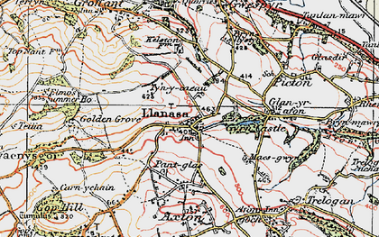 Old map of Llanasa in 1922