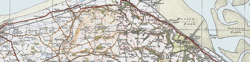 Old map of Llanasa in 1922