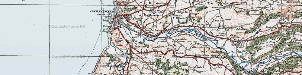 Old map of Llanbadarn Fawr in 1922
