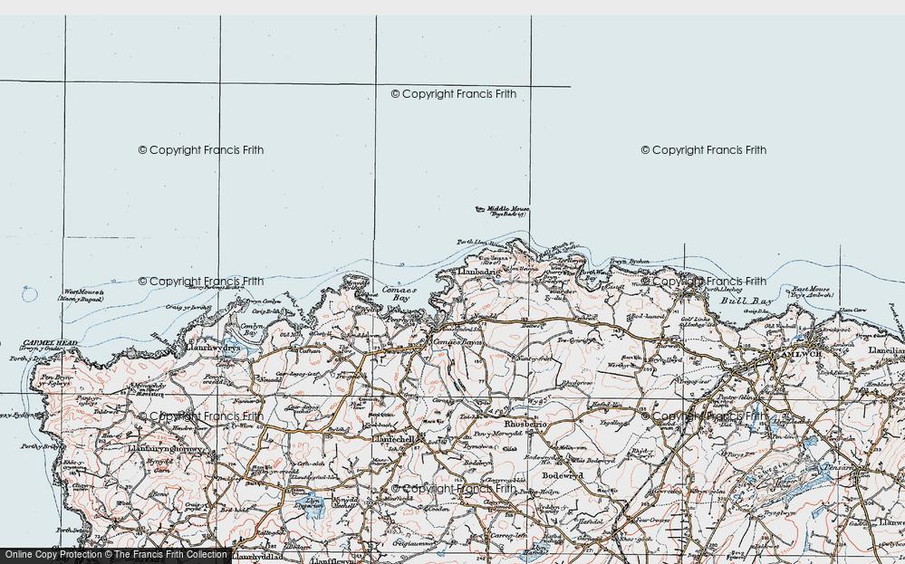 Old Map of Llanbadrig, 1922 in 1922